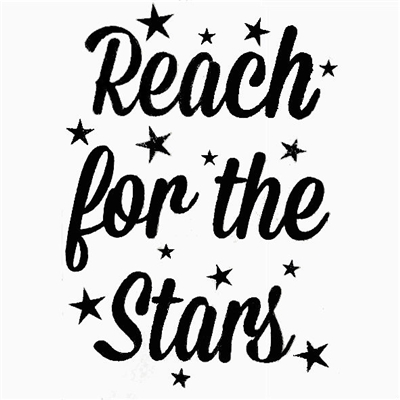 Reach For The Stars Decal